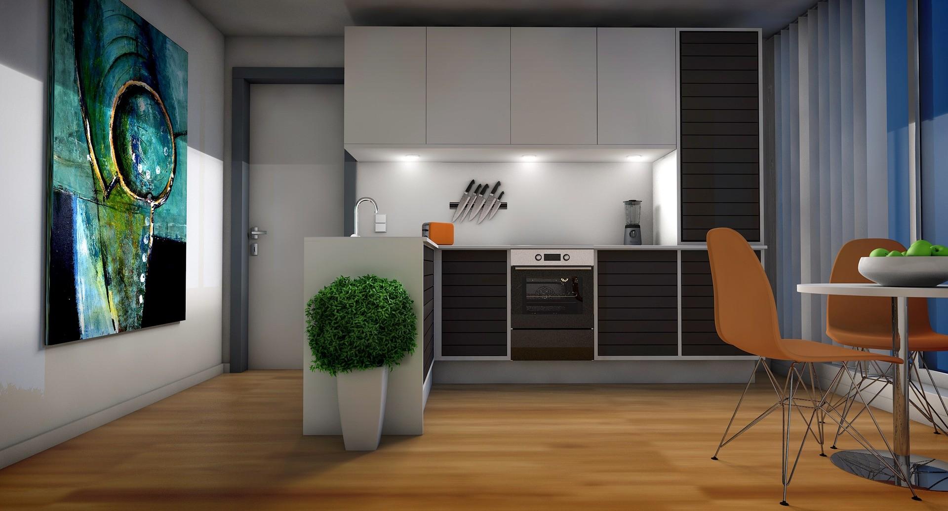 Как производится совмещение гостиной и кухни?